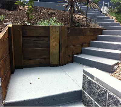 Steps Covercreted & Retainng Wall Brisbane